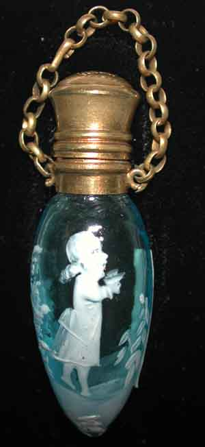 Mary Gregory Glass Antique Coloured Enameled Wares By Moser Scent Bottles Perfume